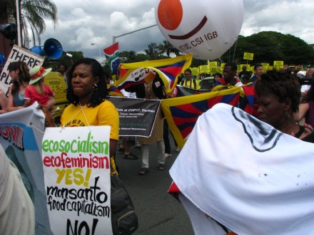 Ecosocialism, ecofeminism: yes! Monsanto food capitalism: no!
